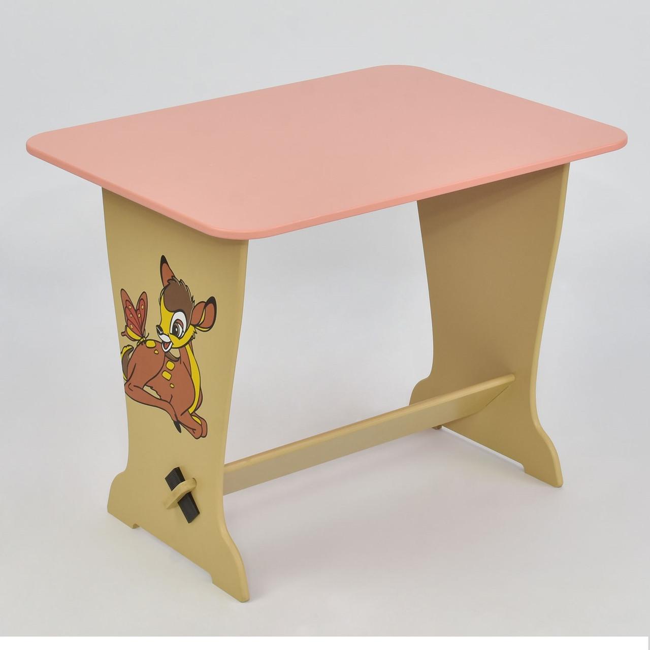 """Детский столик 6232 """"Оленёнок Бэмби"""" розовый"""
