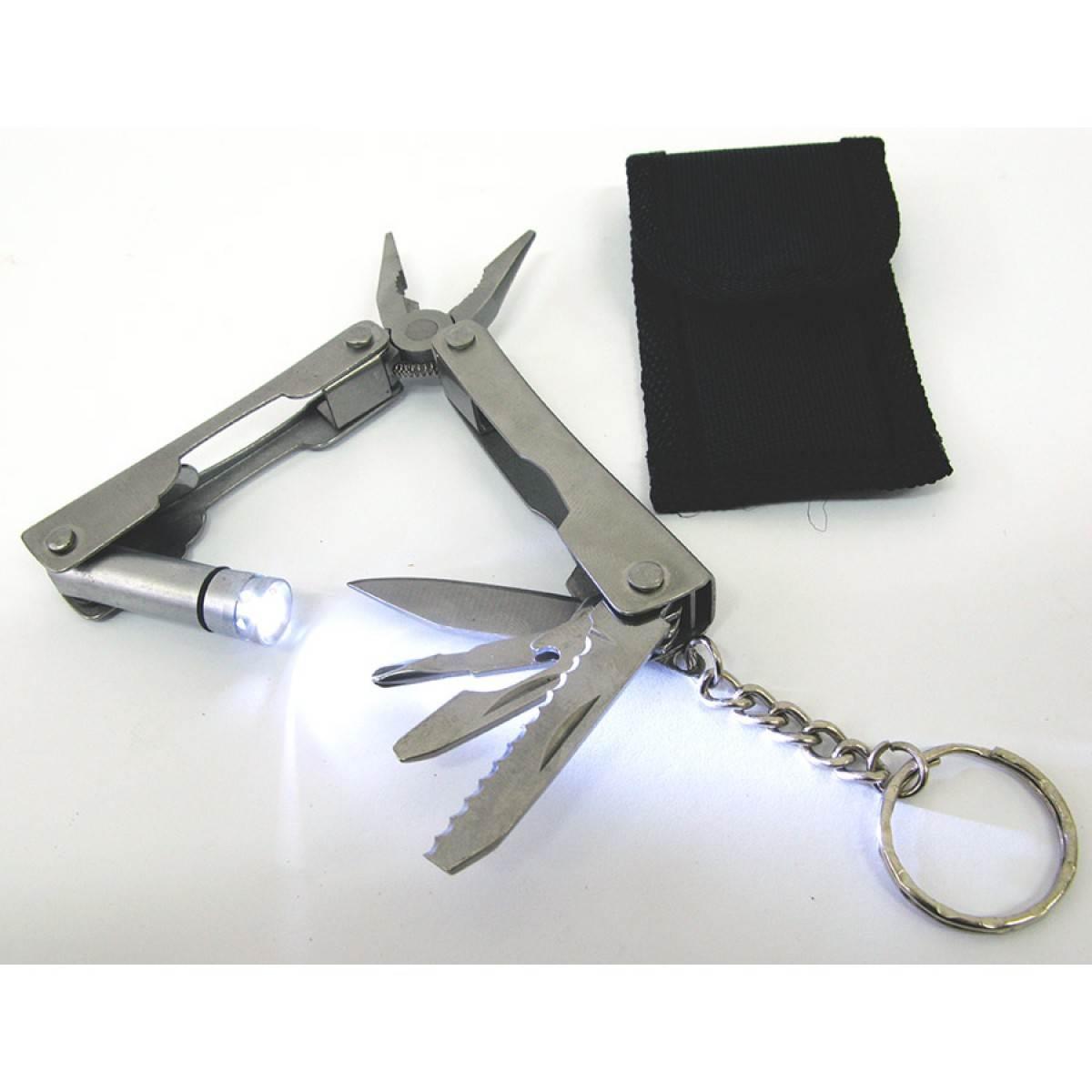 Нож-плоскогубцы с фонариком