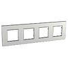 Рамка четырехместная Серебряный Schneider Electric Unica Quadro (mgu6.708.55)