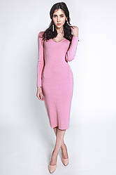 Вязаное платье миди – тепло и стильно!