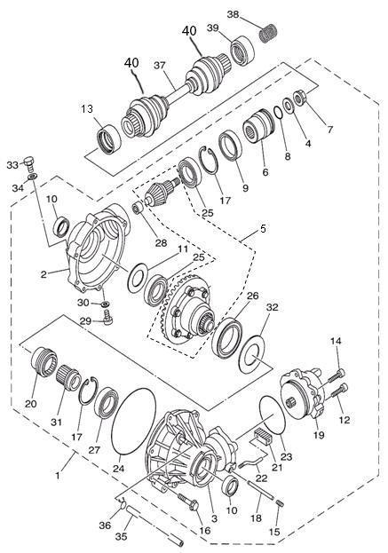 Сальник хвостовика переднего редуктора для квадроцикла Speed Gear/ Hisun 400 500 700  (48*65*9)