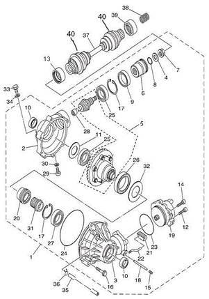 Сальник переднего редуктора для квадроцикла Speed Gear/ Hisun 400 500 700  (24*38*8) , фото 2