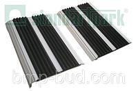 Алюминиево-резиновая накладка на ступени двойная