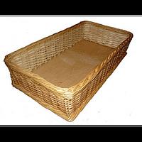 Плетеный лоток из натуральной лозы 50х50х15