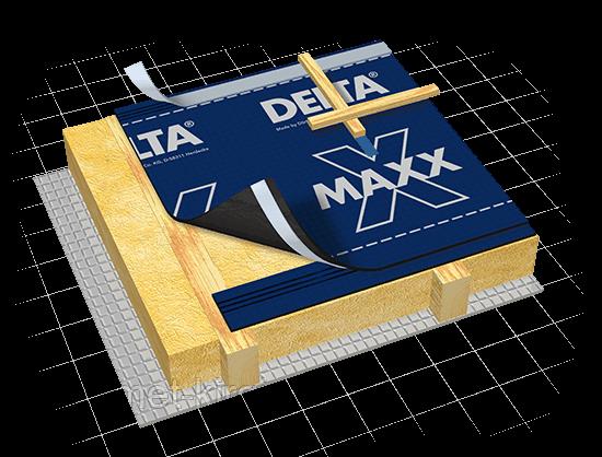 Гидроизоляционная диффузионно-антиконденсационная мембрана DELTA-MAXX X - ПрофМет - Мир Кровельных материалов в Харькове