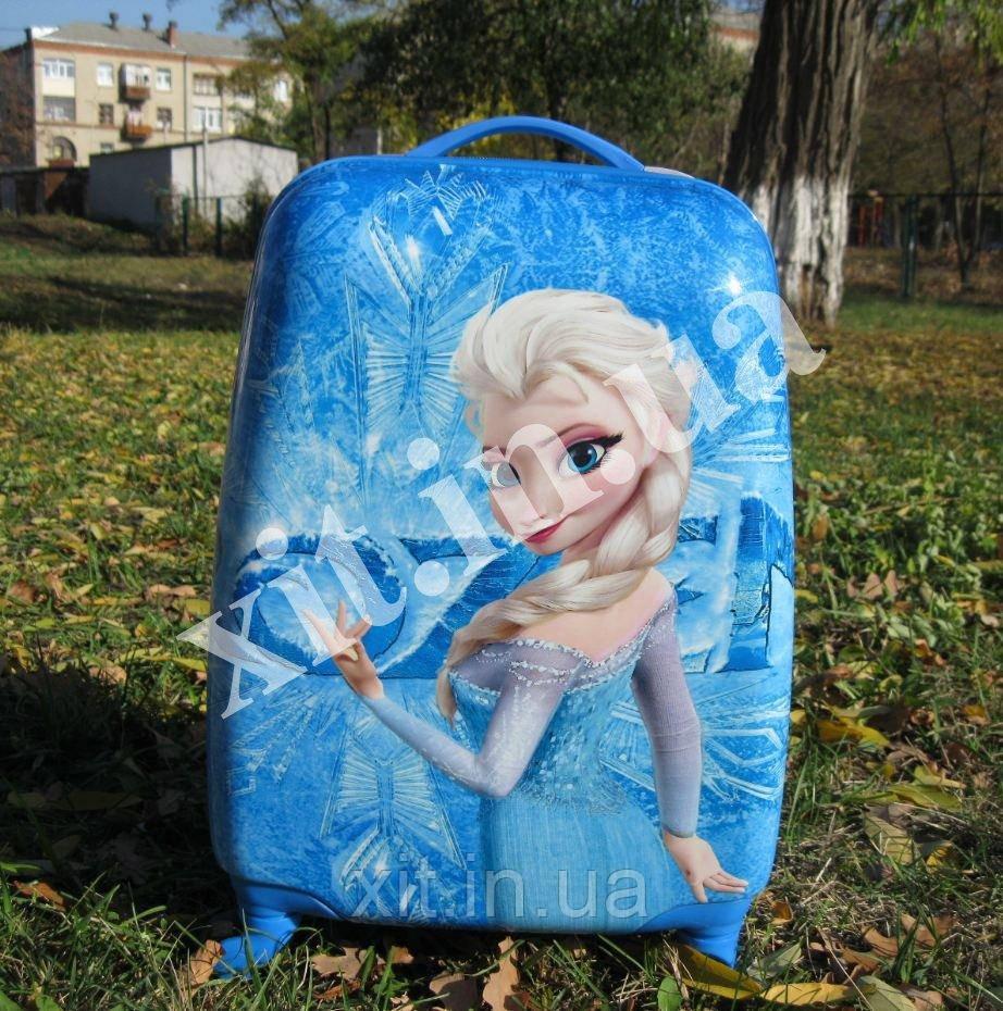 """Детский чемодан 16"""" на колесах Эльза"""