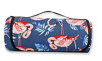 Podarki Водонепроницаемый коврик для пикника Фламинго (Blue), фото 1