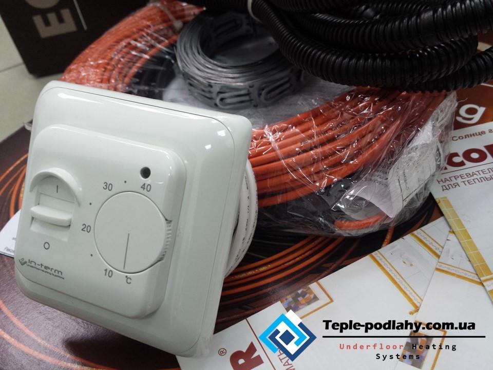 Двожильний нагрівальний кабель тепла підлога з регулятором Fenix ADSV 18160 ( 0.8 м2 )