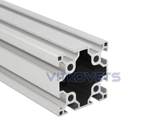 Станочный алюминиевый профиль двопазовый 60х60 3000мм, фото 2