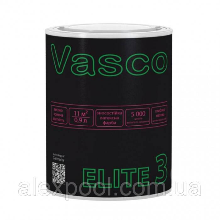 Vasco ELITE 3 0,9 л шовковисто-матова фарба для стін і стель
