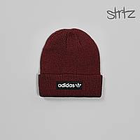 Шапка Adidas Originals Fisherman Beanie, зимняя теплая, цвет красный, фото 1