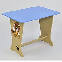 "Дитячий столик 6224 ""Лев"" блакитний"