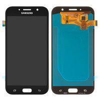 Дисплей для мобильного телефона Samsung A720F Galaxy A7 (2017), золотистый, с сенсорным экраном, (OLED), High Copy
