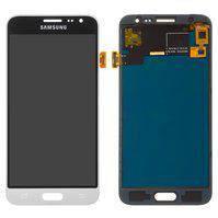Дисплей для мобильного телефона Samsung J320H/DS Galaxy J3 (2016), белый, с сенсорным экраном, без регулировки яркости, (TFT), Сopy