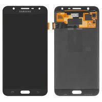 Дисплей для мобильного телефона Samsung J701F/DS Galaxy J7 Neo, черный, с сенсорным экраном, оригинал (переклеено стекло)