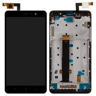 Дисплей для мобильного телефона Xiaomi Redmi Note 3, черный, с сенсорным экраном, с передней панелью