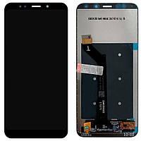 Дисплей для мобильного телефона Xiaomi Redmi Note 5, черный, с сенсорным экраном, Original (PRC)