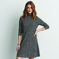 Платье AEO Ribberd Turtleneck Dress XS Серый (0395-9383GY)
