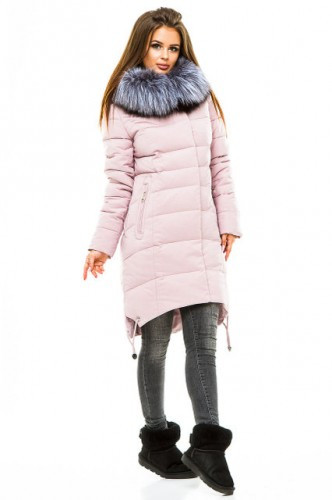 Зимова куртка 17-66 Пудра
