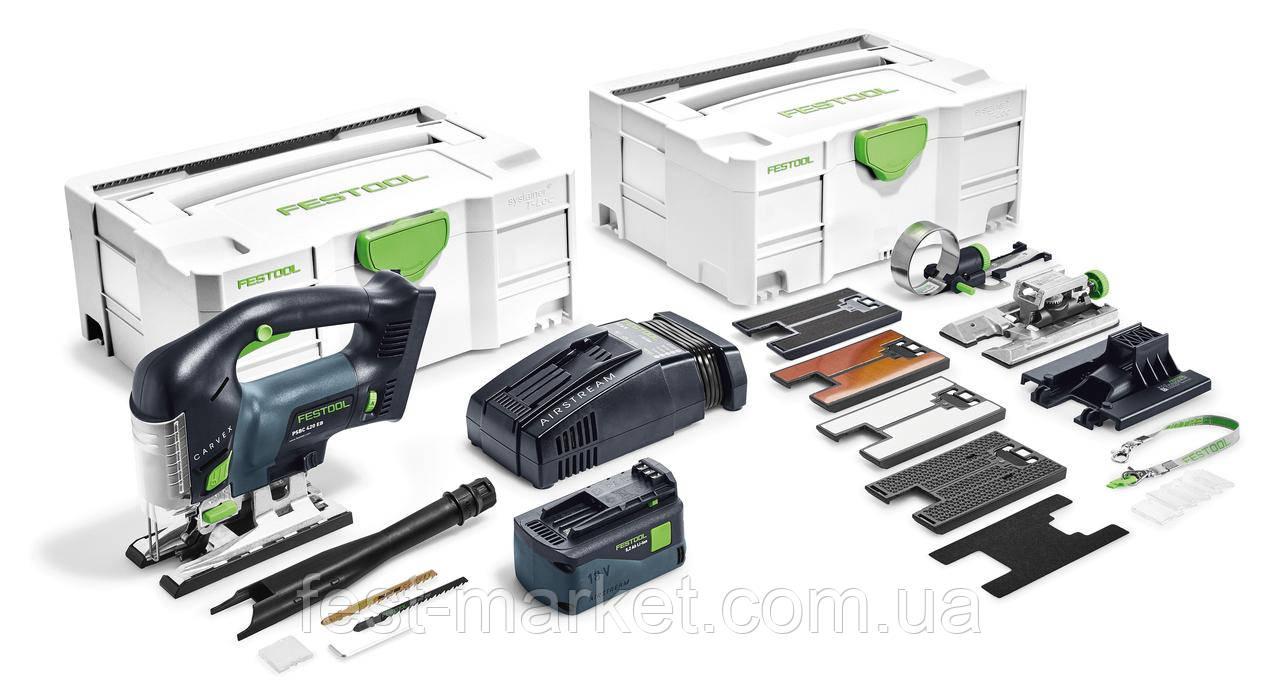 Аккумуляторный маятниковый лобзик PSBC 420 Li 5,2 EBI-Set Festool 575741