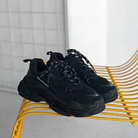 """Кроссовки Balenciaga Triple S """"Black"""" (реплика А+++ ), фото 1"""