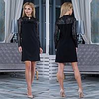 """Черное нарядное женское платье """"Пиана"""", фото 1"""