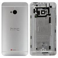Задняя панель корпуса для мобильного телефона HTC One M7 801n, серебристая