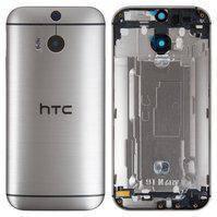 Задняя панель корпуса для мобильного телефона HTC One M8s, серая