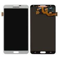 Дисплей для мобильных телефонов Samsung N900 Note 3, N9000 Note 3, N9005 Note 3, N9006 Note 3, белый, с сенсорным экраном, оригинал (переклеено