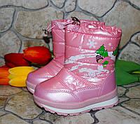 Детские зимние сапожки- дутики Том.м для девочек