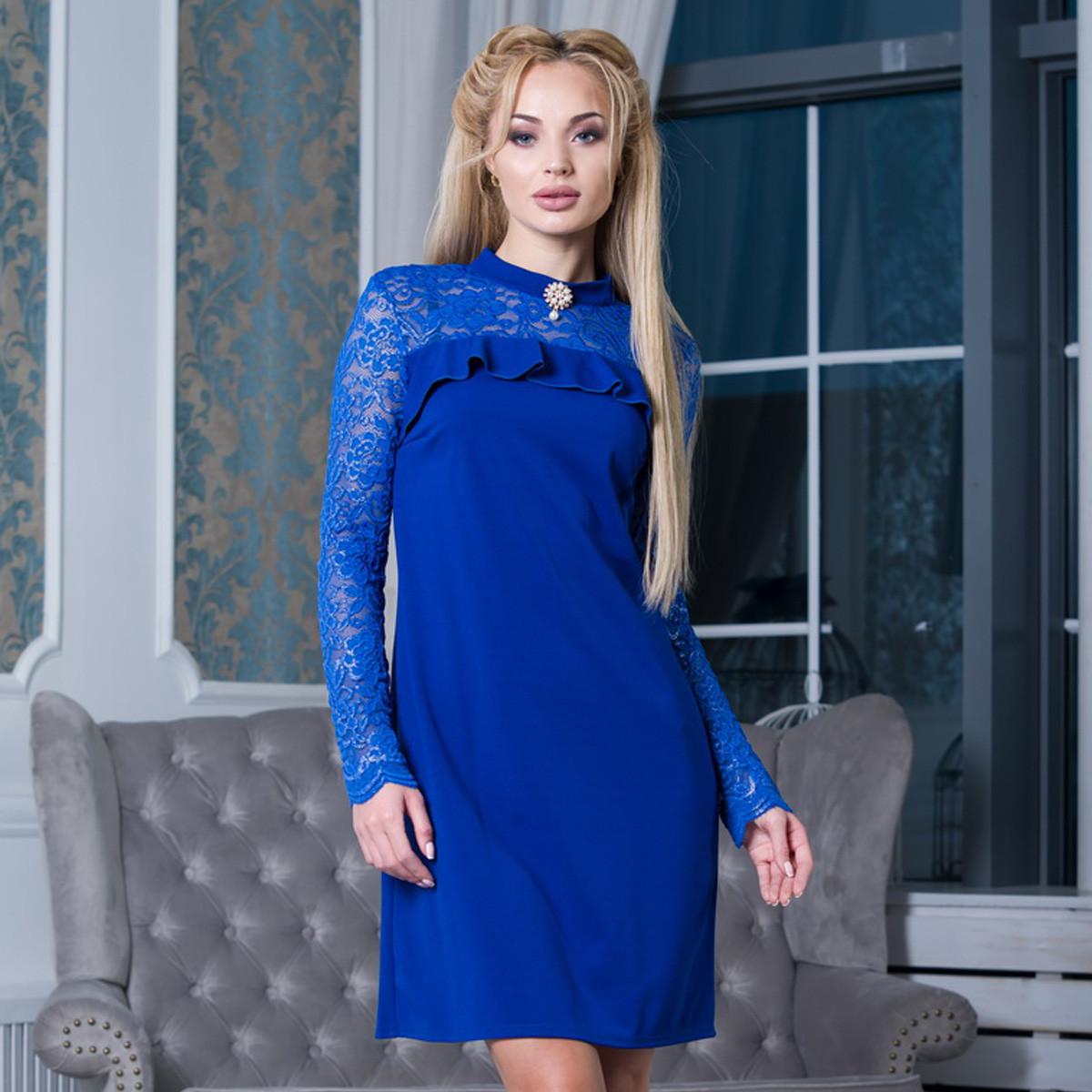 982f3bc76fa Модное короткое платье с гипюром размер S