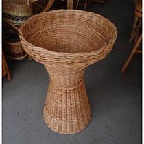 Плетеная багетница из лозы для французских булок, батонов (высота 83, диаметр верха 57, низа 43 см)