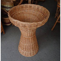 Плетені багетница з лози для французьких булок, батонів (висота 83, діаметр верху 57, низу 43 см)