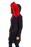 Зимняя куртка 17-16 Черный+Оранж, фото 1