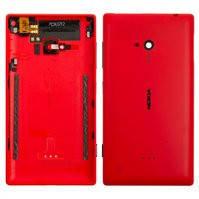 Задняя панель корпуса для мобильного телефона Nokia 720 Lumia, красная, с боковыми кнопками