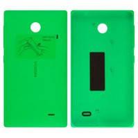 Задняя панель корпуса для мобильного телефона Nokia X Dual Sim, зеленая, с боковыми кнопками