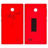 Задняя панель корпуса для мобильного телефона Nokia X Dual Sim, красная, с боковыми кнопками