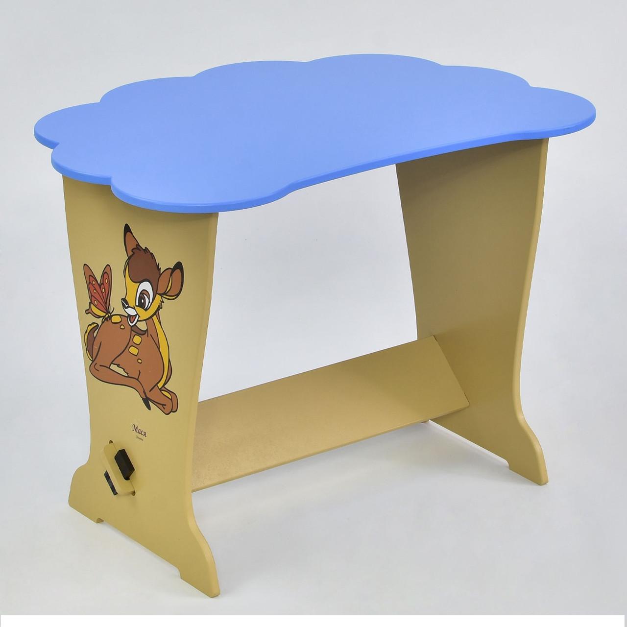 """Детский столик- тучка 6123 """"Оленёнок Бэмби"""" голубой"""