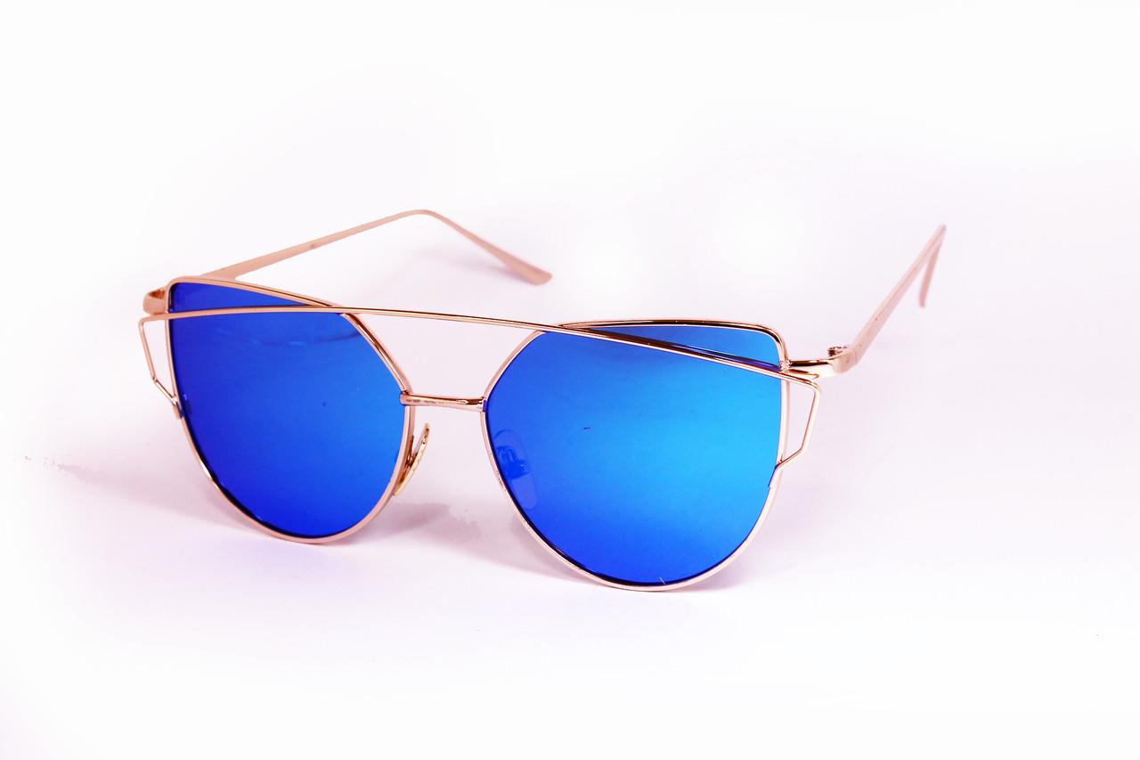 44e1d026d9e1 Солнцезащитные Очки Зеркальные Голубые (P8911-1) — в Категории ...