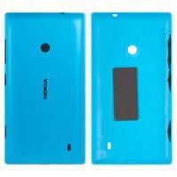 Задняя панель корпуса для мобильных телефонов Nokia 520 Lumia, 525 Lumia, синяя, с боковыми кнопками