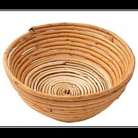 Форма для расстойки теста из лозы круглая на 0,6 кг (диаметр 18 см, глубина 7 см)
