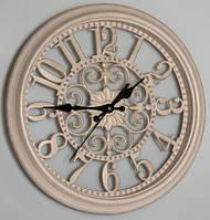 Большие настенные часы, бежевые (51 см.), фото 1
