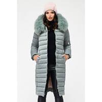 Удлиненная зимняя куртка женская с капюшоном , фото 1