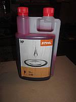 Масло полусентетитка Stihl для 2-хтактных двигателей с дозатором1л