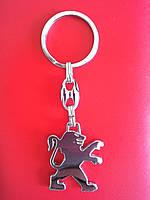 Брелок для ключей металлический оригинальный марка авто пежо Peugeot, фото 1