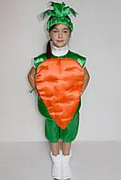Премиум! Морковь Детский Новогодний Костюм, Комплектация 3 Элемента, Размеры 3-6 лет, Украина