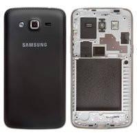Корпус для мобильного телефона Samsung G7102 Galaxy Grand 2 Duos, черный