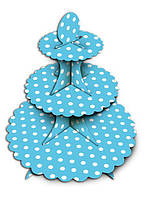 Стенд, подставка для капкейков, кексов, сладостей Голубой Горох