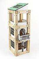 """Конструктор на магнитах, деревянный конструктор, конструктор магнитный, дом конструктор,  ТМ """"Зевс"""" 77 деталей"""