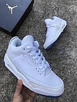 Мужские кроссовки в стиле Nike Air JORDAN 3 (white), Реплика ААА, фото 1
